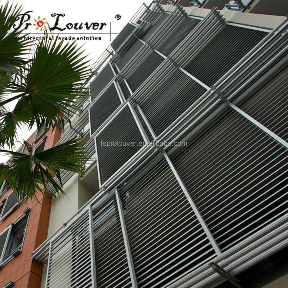 Gold Supplier China Aluminium Sun Motorized Window Louver Material ...