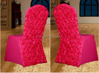 Wedding/Banquet/Hotel Fancy Rosette Chair Cover with Satin Flowers