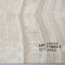 MARBLE PVC Material and Decorative Function 3D high gloss decorative membrane pvc foil