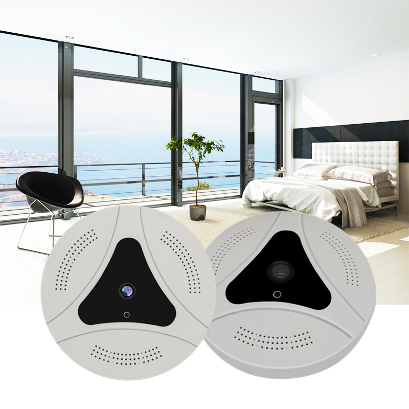 Panoramic 360 Fisheye 1080P VR Cloud IP Camera P2P Indoor Security Wi-Fi Direct Night Vision