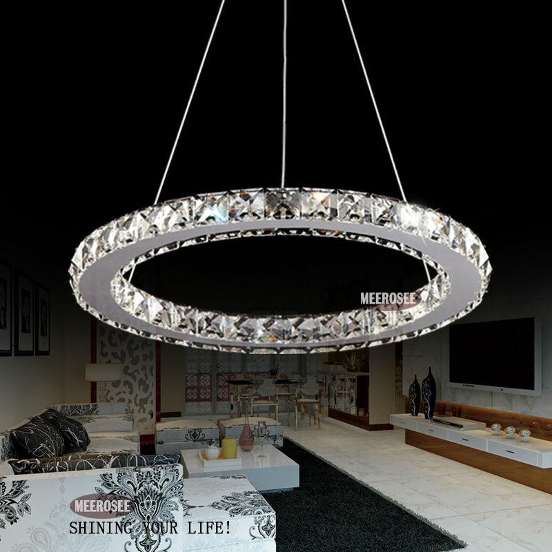 Nouveau mod le 2014 led 1 cercle lampe lustre en cristal de lampe pendante md8825 lumi res de - Lampe cercle led ...