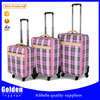 alibaba stripe luggage bags and case aluminum luggage bags and cases