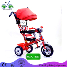 Children tricycle with canopy/trailer /safety belt 2017 new 4 in 1 baby lexus tricycle children tricycle