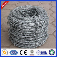 Cheap! Hot dip/ Electric galvanized Double Twist Barbed wire fencing real factory (ISO)