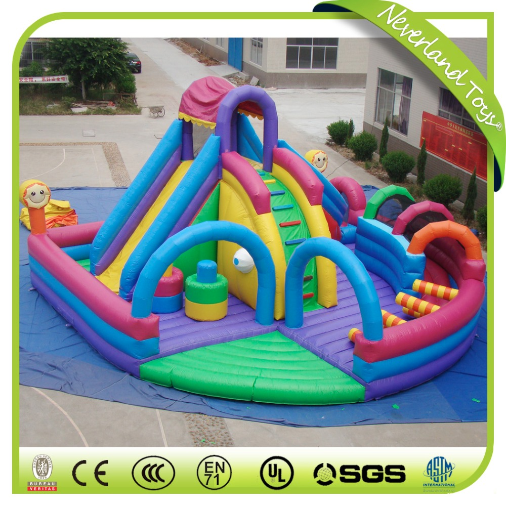 Giant Colorful Inflatable Fun City, Big Inflatable Playground, Inflatable Amusement Park