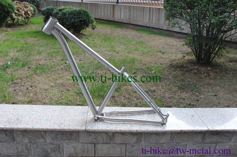 xacd Titanium fat bike frame with tapered frame Chinese titanium snow bicycle frames with 142x12 dropouts Custom Ti bicycle PM