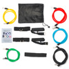 11pcs nature Resistance Band/ fitness resistance band set/ Latex Exercise band set tubes