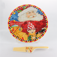 Santa claus cake plate , cake plate for christmas day