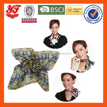 Factory Direct Sale New Arrival Soft Feeling Various Designs Custom-Made Size Printing Silk Chiffon Scarfs Kerchief