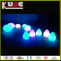 rechargeable waterproof IP68 light /pear shaped LED deco lamps CE certified