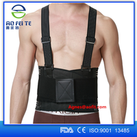 2016 Aofeite Custom Logo Working lumbar belt waist support lower back brace for back spine pain relief workers waist protector