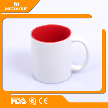 Sublimation water cup inner color cup with images imprinted for Malls