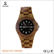 china wholesale 100% Nature wooden watch/sandel/bamboo/maple wood watches