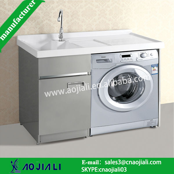 AJL-8303 pinghu china luxurious stainless steel laundry cabinets/bathroom vanity
