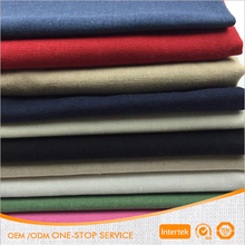 Wholesale yarn dyed 55% linen 45% cotton fabric for garment shirt dress