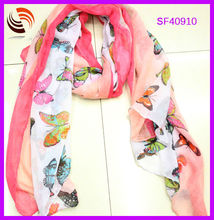 2014 Fashion Accessories butterfly print fashion lady spring scarf