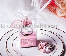 "Wedding favor gifts-""With This Ring"" Engagement Ring Keychain"