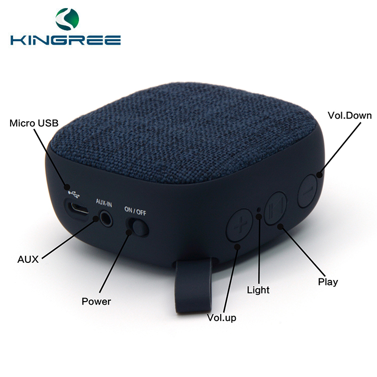 Vendita Calda OEM Mini Hi-fi Portatile Tessuto Mini Speaker Bluetooth