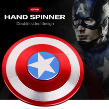 2017 hot sell Captain America fidget hand fidget metal gyro spinner toys set