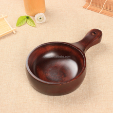 New 2016 Kimchi pickle bowl with handle large noodle bowl Vintage Hand Carved Wooden Bowl dinnerware