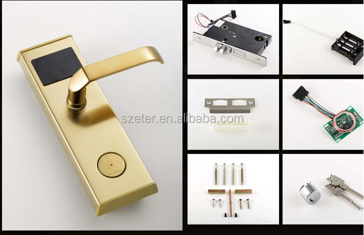 Smart hotel card key lock system RF ID Sensor with Key ET100RF