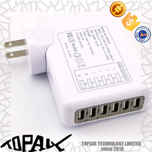 wall bulk 6 port usb charger Socket/night light usb adapter for electronics