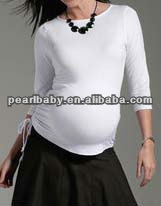 HSL01 plain maternity blank t shirt