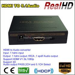 Top Quality RCA HDMI Converter RCA HDMI To HDMI/RCA/SPDIF Converter With 5.1 Audio From China