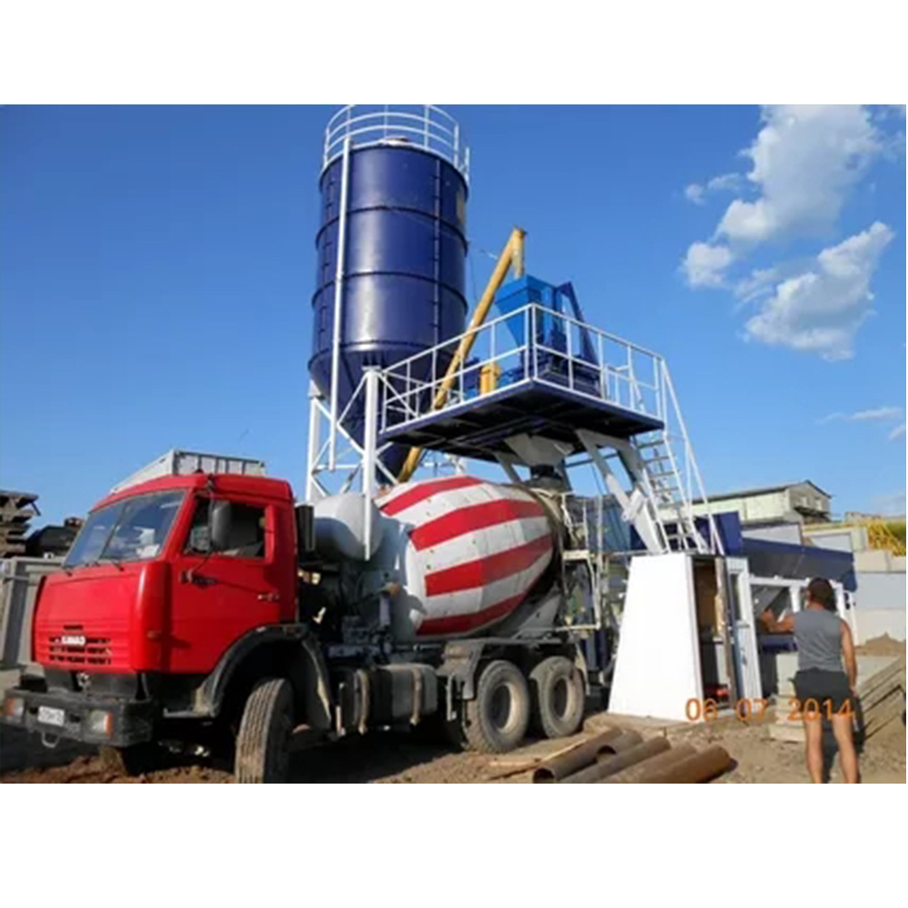 HZS25 mini competitive price concrete batching plant for sale