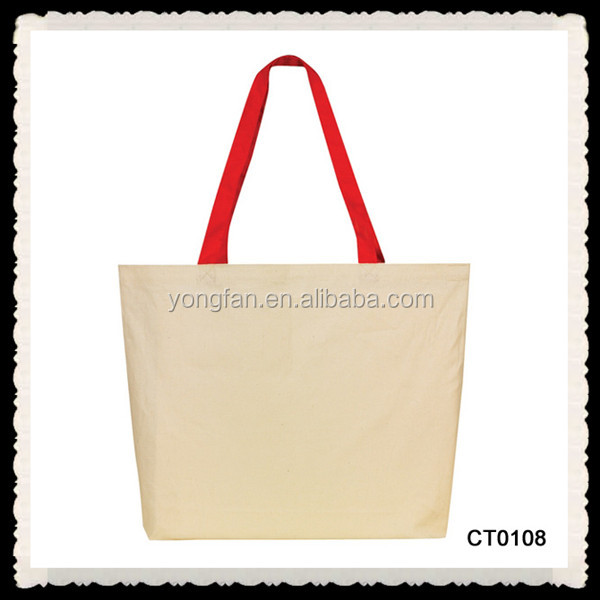 Wholesale Shopping Custom Canvas Bag Tote Plain Canvas Bags