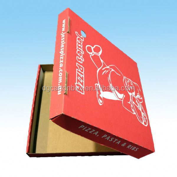 Customed white pizza packing boxes, outer printed color pizza boxes, carton pizza boxes wholesale
