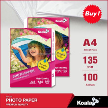 Premium Koala inkjet waterproof high glossy photo paper A4