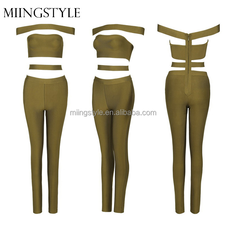 2016 oem one piece bodycon sexy long bandage women jumpsuit for wholesale