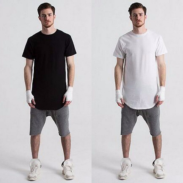 oem plain mens scoop curved hem t shirt short sleeve droped crew longline neck new tee wholesale bulk buy from china
