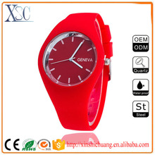 Fashion japanese wrist oem watch men low moq brands silicone geneva watch