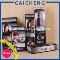 Cheap Hair Extension Paper Packaging Box with Die Cut Window