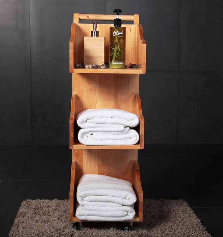 hotel bagno trolley stuoia di legno spa trolley