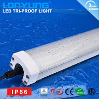 hot new products for 2015 4FT 50W/60w IP66 100-240volt ac clear stripe cover led tri-proof light ip65 3 years warranty