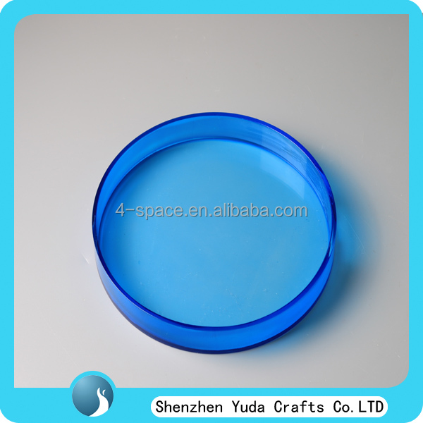 Circle Shaped plexiglass serving tray, Clear Candy Acrylic tray