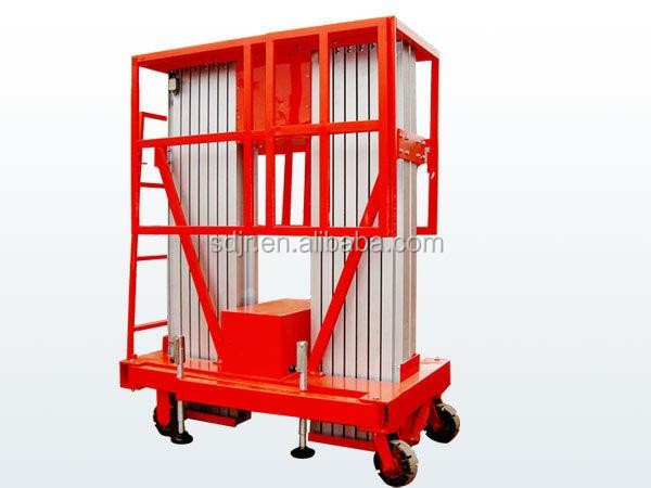 Mobile hydraulic multi-mast aluminum alloy aerial working lift table