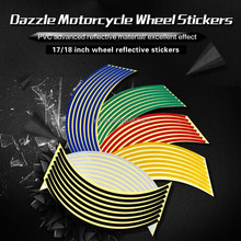 Reflective stickers motorcycle motorbike and car wheel rim stickers