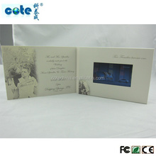 Factory Supply 4.3 Inch screen Printed Lcd Video Mailer for Wedding
