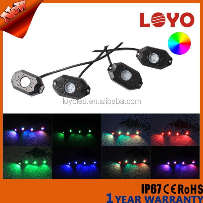 Bluetooth Wireless Control 4 Pods RGB LED Rock Light small smart led rock light