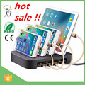 2017 Wholesale mulltiple mobile phone tablet charging station device docking station hot sale in stock charging station black