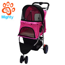 3 Wheels Oxford Portable Dog Stroller And Wheels Pet Travel Trolley Foldable Pet Stroller