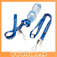Custom sublimation water bottle holder polyester lanyard