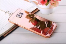2016 hot selling luxury mental aluminum Bumper ultra-thin mirror case for samsung galaxy S7 phone case