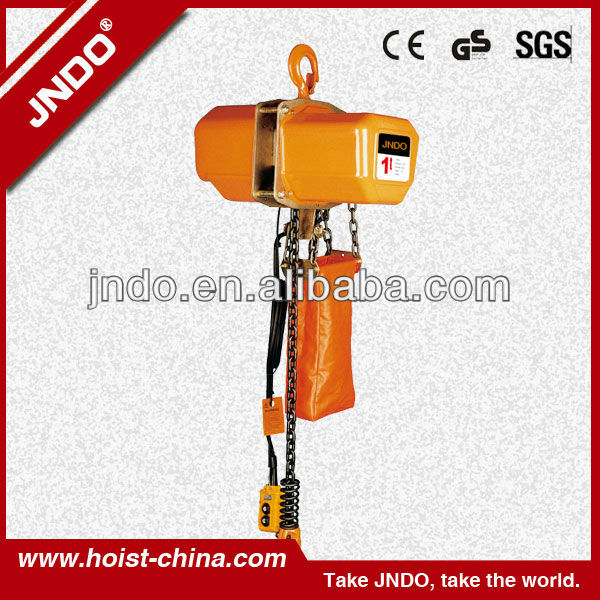 Electric Trolley Chain Hoist with Remote Controller for the Operation