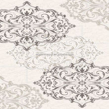 Luxury polypropylene light grey floral pattern wilton carpet