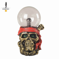 Resin Glass Skull Static Electricity Home